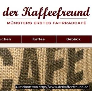Ausschnitt von der Webseite http://www.derkaffeefreund.de
